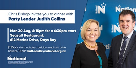 Hutt South National Party Dinner with Judith Collins tickets