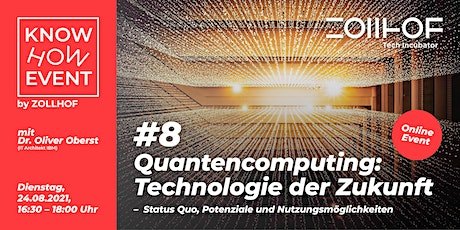 #8 Know-How Event - Online Edition: Quantencomputing Tickets