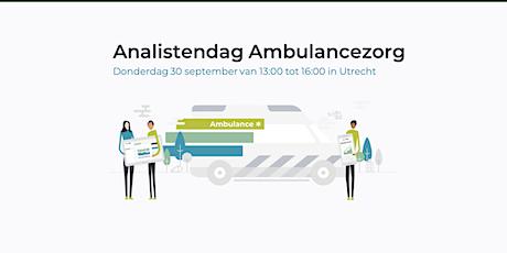 Analistenmiddag Ambulancezorg tickets