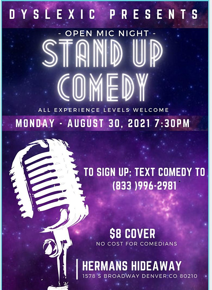 OPEN MIC - STAND UP COMEDY NIGHT | OPEN SIGN UP | ALL EXP. LEVELS image