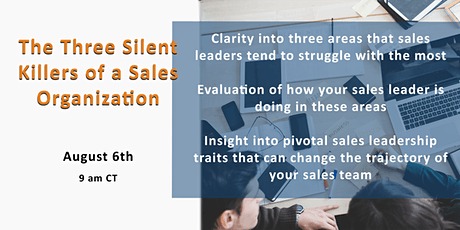The Three Silent Killers of a Sales Organization tickets