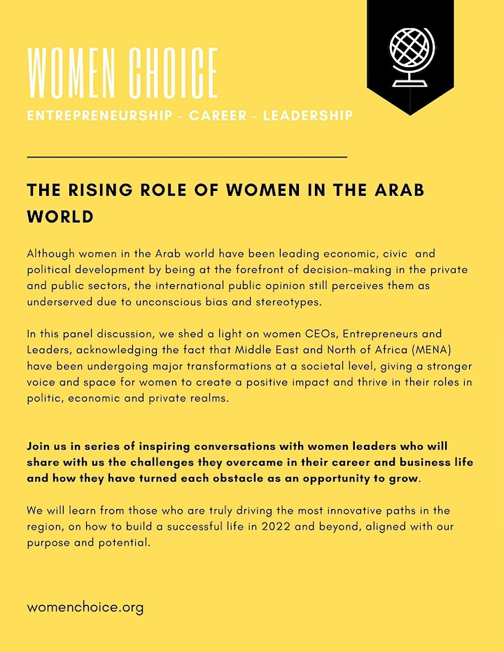 WOMEN CHOICE: The Rising Role of Women in the Arab World image