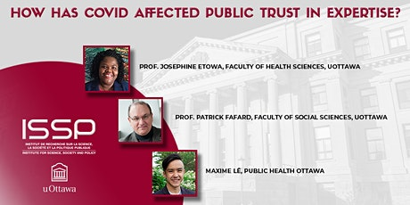 How has COVID affected public trust in expertise? tickets