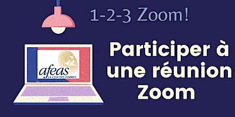 Participer à une réunion Zoom - Atelier pratique billets