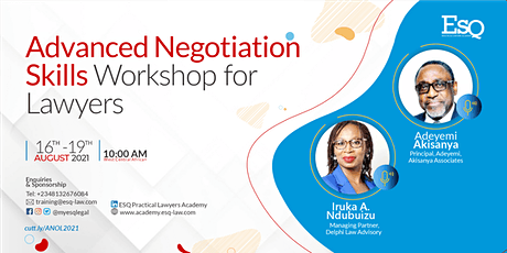 ADVANCED NEGOTIATION SKILLS FOR LAWYERS tickets