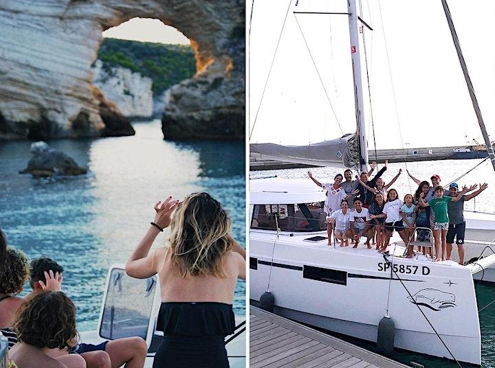 Immagine Aperitivo in barca, escursione su catamarano di lusso