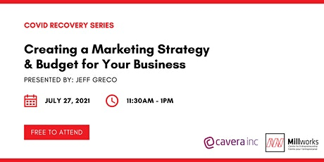 Creating a Marketing Strategy & Budget for Your Business tickets