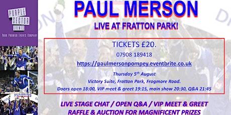 Paul Merson @ Pompey tickets