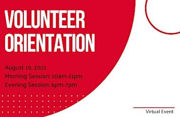 Volunteer Orientation- Morning Session tickets