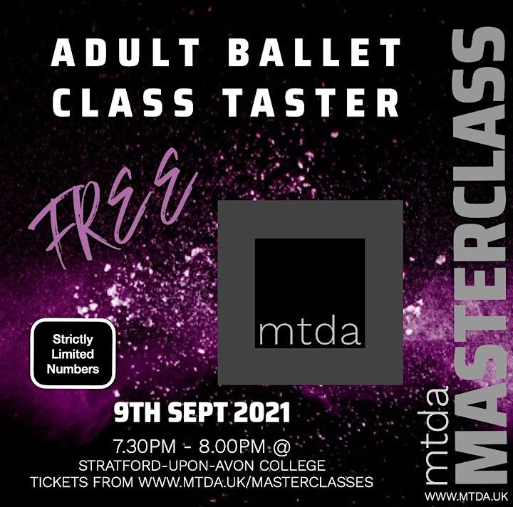 mtda FREE Adult Ballet Taster Session image