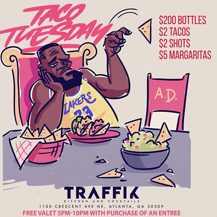 ATLANTA'S BIGGEST TACO TUESDAY!  TUESDAYS AT CLUB TRAFFIK! image