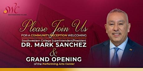 Dr. Mark Sanchez Community Welcome tickets