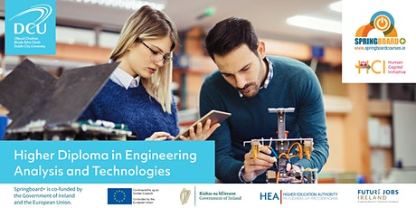 Springboard Webinar: Engineering Analysis & Technologies at DCU tickets