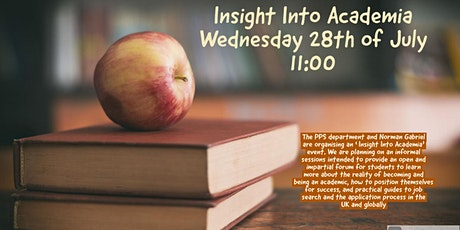 PPS Employability Event  (Careers in Academia followed by  Panel) tickets