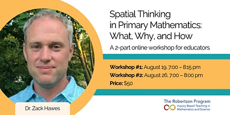 Spatial Thinking in Primary Mathematics: What, Why, How? A 2-part workshop tickets