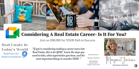 One Hour- Is A Real Estate Career Right For Me? What you need to know! tickets