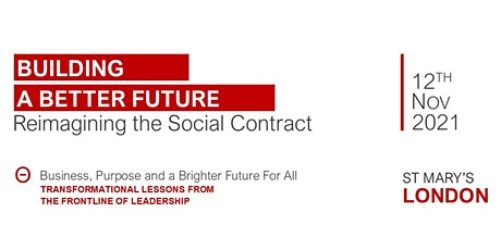 Building a Better Future : Re-imagining the Social Contract tickets