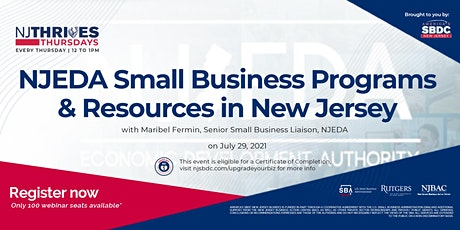 NJEDA Small Business Programs & Resources in New Jersey tickets