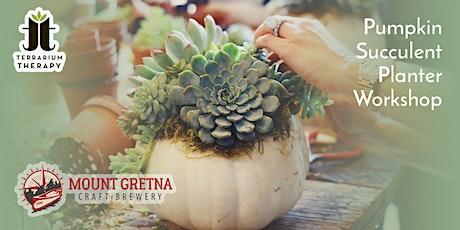 In-Person Pumpkin Succulent Workshop at Mount Gretna Craft Brewery tickets