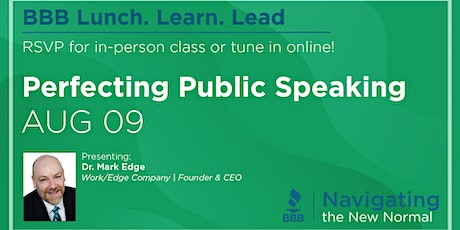 Lunch. Learn. Lead. - Perfecting Public Speaking tickets