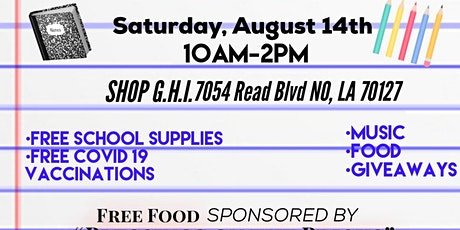 G.H.I. Back To School Supply - GIVE A WAY ! tickets
