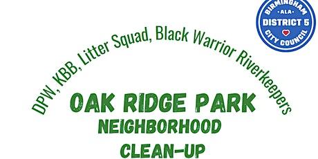Oak Ridge Park Neighborhood Cleanup tickets
