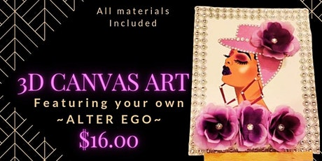 """""""Release your Alter Ego"""" with 3D Canvas Art! tickets"""