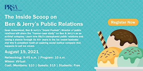 The Inside Scoop on Ben & Jerry's Public Relations tickets