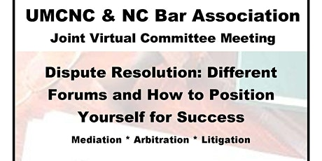 UMCNC & NC Bar Association Joint Meeting (Virtual) tickets