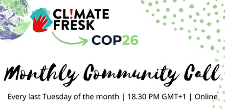 The Climate Fresk COP26 Monthly Community Call tickets