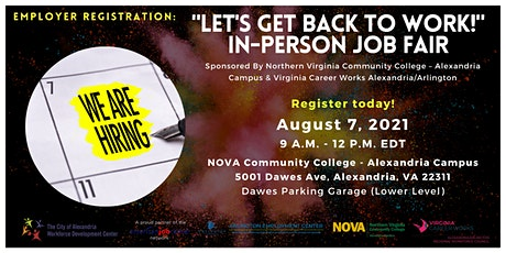 Let's Get Back to Work: In-Person Job Fair - Employer Registration tickets