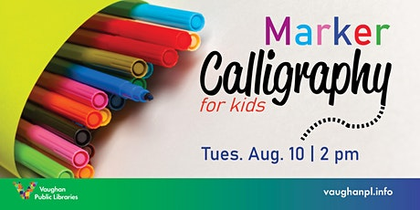 Marker Calligraphy for Kids tickets