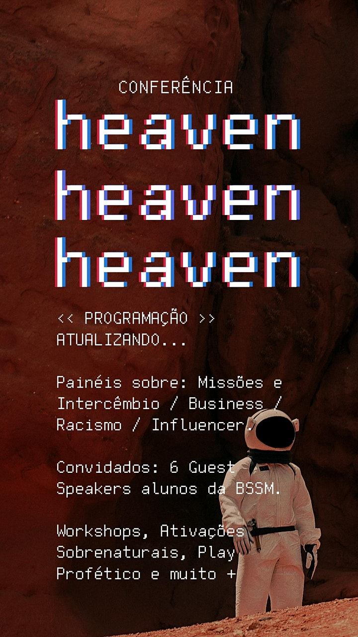 Imagem do evento CONFERÊNCIA HEAVEN // 3X4 & TEENS