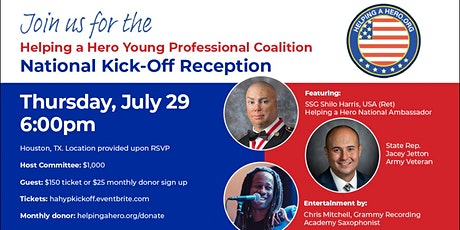 July 29 Helping a Hero Reception tickets