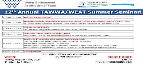 12th Annual TAWWA/WEAT Summer Seminar billets