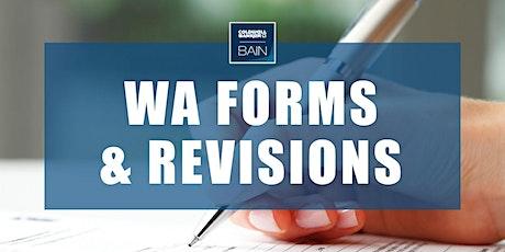 CB Bain | WA Forms & Revisions (3 CE-WA) | ETC & Webex | Oct 27th 2021 tickets