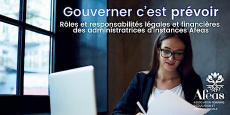 Gouverner c'est prévoir : rôles et responsabilités des administratrices billets