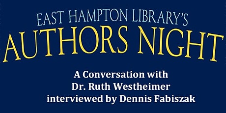 Authors Night  - A Conversation with Dr. Ruth Westheimer tickets