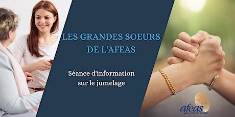 Séance d'information - Programme de jumelage Grandes sœurs Afeas billets