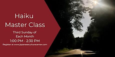 Haiku Master Class : Hybrid tickets