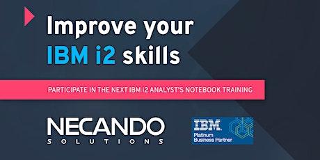IBM i2 Analyst's Notebook Level 1 (5 days) – Instructor-Led Online Training tickets