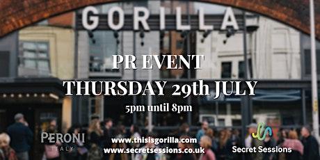 PR Event Gorilla Whitworth Street tickets