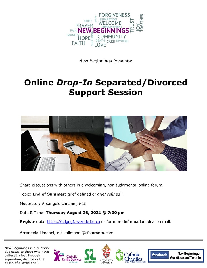 New Beginnings Online Drop-In Separated/Divorced Support Session image