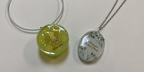 UV Resin Ceramic Necklace and Sweet Charm- Hilo tickets