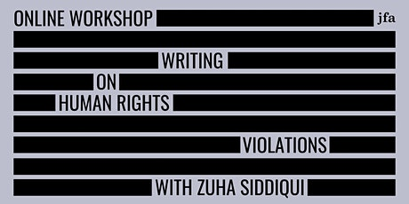 Writing on Human Rights Violations with Zuha Siddiqui tickets