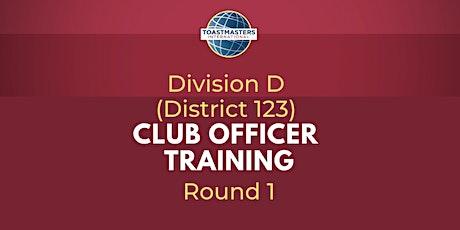 District 123, Div D: COT Round 1 - President biglietti