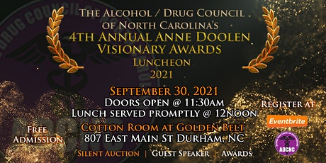 ADCNC's 4th Annual Anne Doolen Visionary Awards Luncheon 2021 tickets