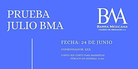 EVENTO DE PRUEBA 13 DE JULIO boletos
