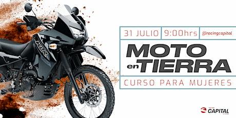 Curso de moto en tierra para mujeres boletos