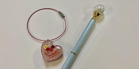 UV Resin Shaker Pen and Sweet Charm tickets